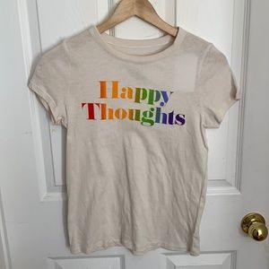 """NWT Chaser """"Happy Thoughts"""" Graphic Tee (S)"""